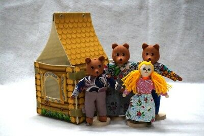 Puppet Theater Repka Russian Fairy Tale Soft Dolls Fine Motor Skills Improvement