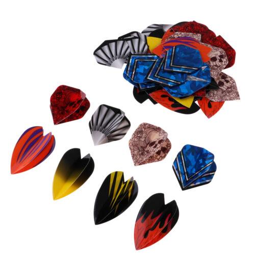 60//54pcs Professional Dart Flights Mixed Dart Darts Tails Accessory Supplies