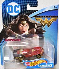 HOT WHEELS 2017 DC COMICS CHARACTER CARS WONDER WOMAN