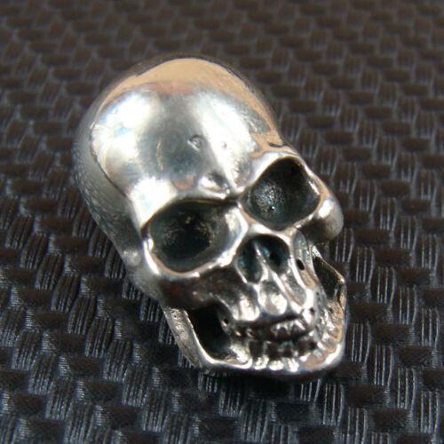 White Copper Skull Leather Craft Bag Wallet Back Conchos Rivet Stud Punk Screw