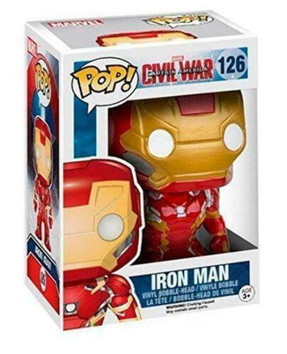 Funko Iron Man Vinyl Figure Marvel n° 126 Civil War Pop