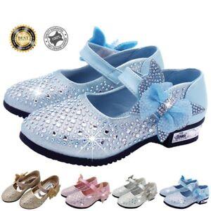 5e8743e0e49 Image is loading Girls-Toddler-Bow-Princess-Shoes-Glitter-Strip-Ballet-