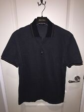 Men's Gucci GG Polo Navy Shirt Size XL Slim Fit Rare Excellent Condition