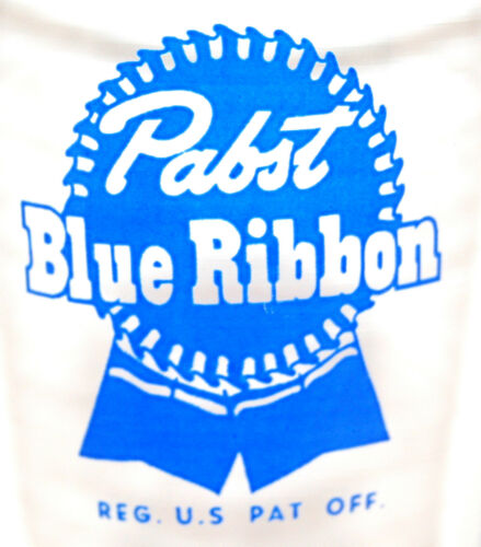 """PABST  /""""PABST BLUE RIBBON/"""" VINTAGE 1950/'s  A.C.L SHELL STYLE BEER GLASS"""
