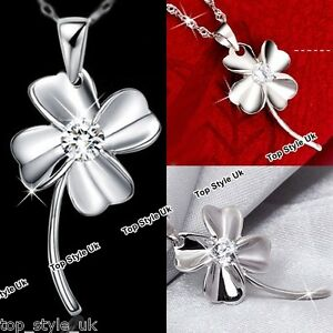925-Sterling-Silver-Necklace-Irish-Shamrock-Clover-Pendant-Lucky-Gift-for-Her