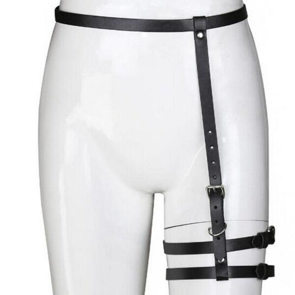 Sexy Punk Gothic Leder Strumpfband Gürtel Verstellbare Schnallen Taille Gürtel