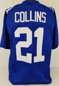 brand new 6cc1b 77bf6 Landon Collins Unsigned Custom Sewn Blue Football Jersey ...