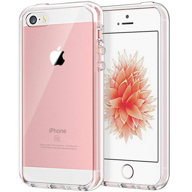 JETech Mac Apple iPhone SE 5s 5 Bumper Cover HD TPU PC Clear Transparent Case