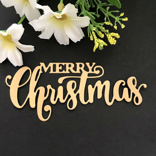 Merry Christmas Design Metal Cutting Dies For DIY Scrapbook Card Paper Album C/&E