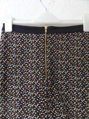 Womens Ladies New Short High Waist Spotted Pocket Mini Skater Skirt UK 8-12