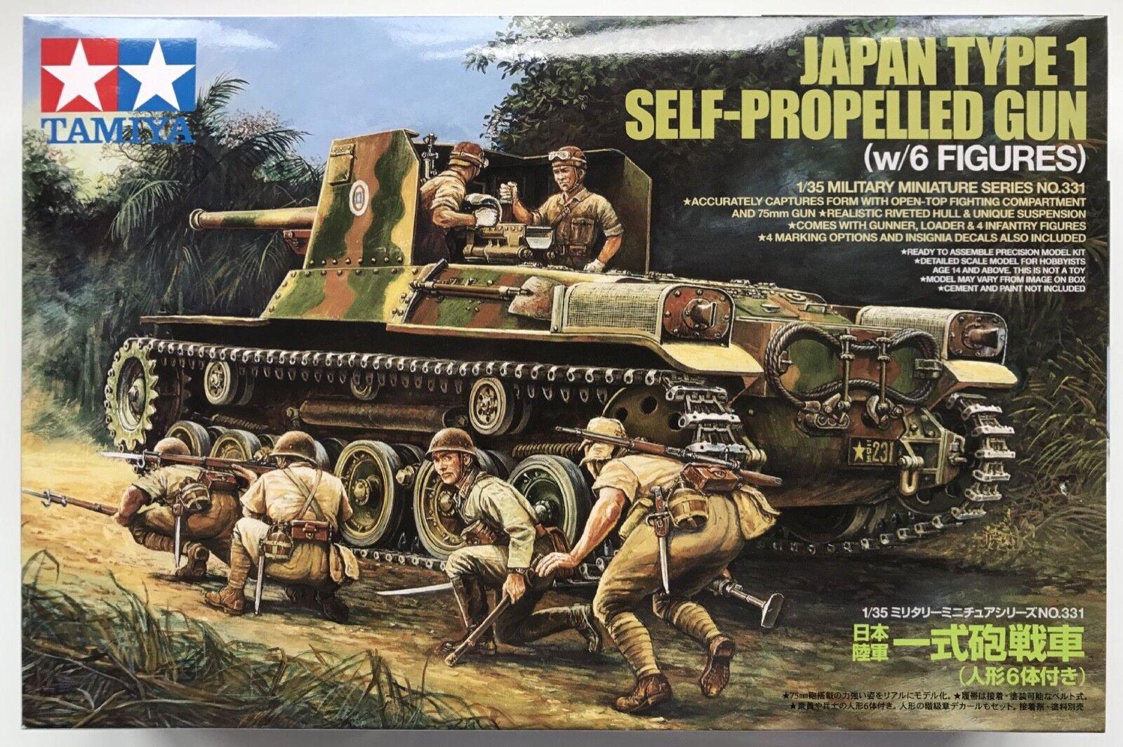 Tamiya 35331 Japan Type 1 Self-Propelled Gun (w 6 Figures) 1 35 Model Kit NIB