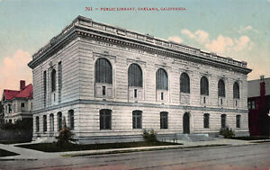 Public-Library-Oakland-California-Early-Postcard-Unused