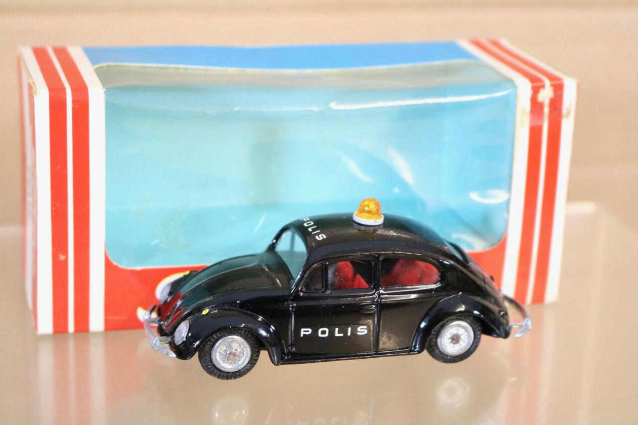 Tekno 819 VW Volkswagen EsCocheabajo Negro polis patrulla Menta en caja NL