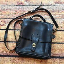 Vintage COACH Black Leather CROSS BODY STATION BAG HANDBAG PURSE 5130 Strap 90s