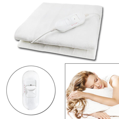 Electric Blanket Under Heated Double Washable Comfort Control 3 Heat Settings