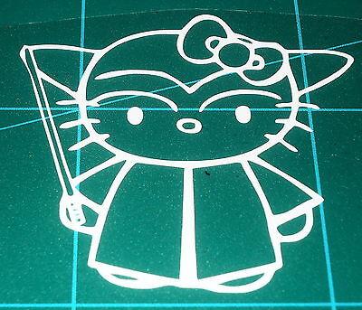 Star Wars Hello Kitty Yoda Vinyl Decal