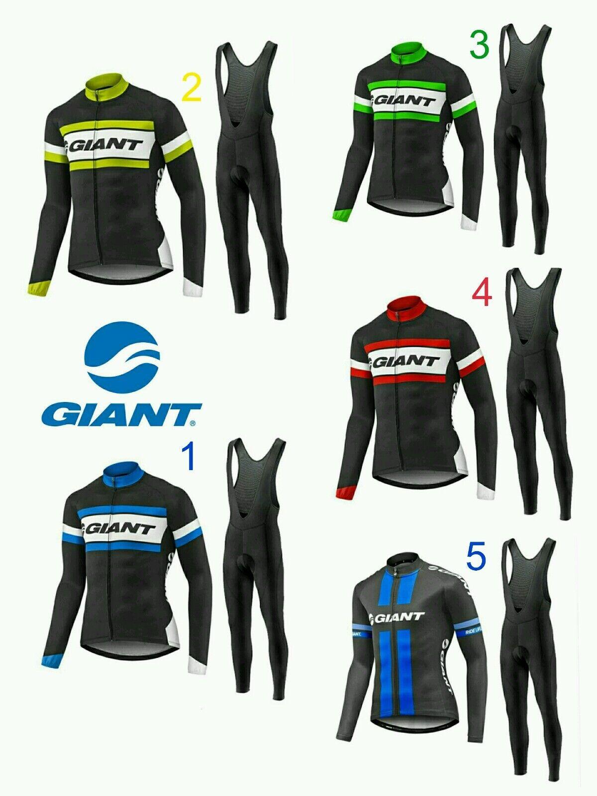Equipacion invierno giant maillot culotte mtb ciclismo triatlon btt modelos 2017