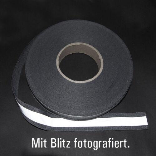 Metraggio REFLEX Nastro Riflettore Nastro leuchtborte REFLEX strisce argento 30 mm