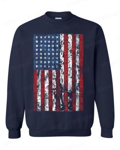 American Flag vintage CREWNECK distressed USA flag American Patriotism sweater