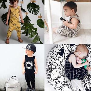044da488df04 Kids Baby Boy Girls Cotton Jumpsuit Romper Outfit Newborn Infant ...