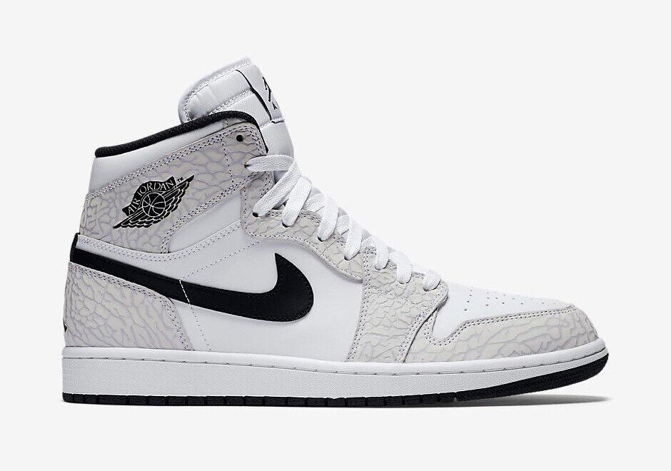 1a294c8f98aff9 Nike Nike Nike Air Jordan 1 Retro High White Black Platinum Men s  Basketball shoes Size 15