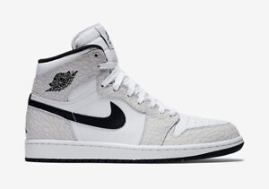 c712a03c2ab Nike Air Jordan 1 Retro High White Black Platinum Men s Basketball ...