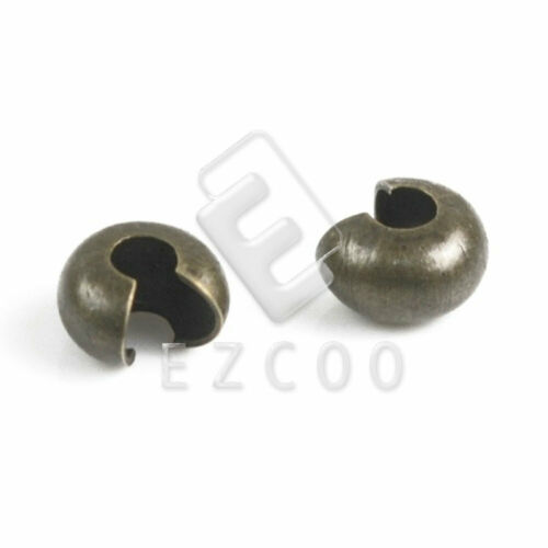 100pcs Brass Conceal Knot Cover Crimp End Beads Jewelery Findings 4//5//6mm Lots