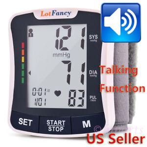 Wrist-Blood-Pressure-Monitor-Machine-BP-Cuff-Heart-Beat-Rate-Pulse-Talking-Meter