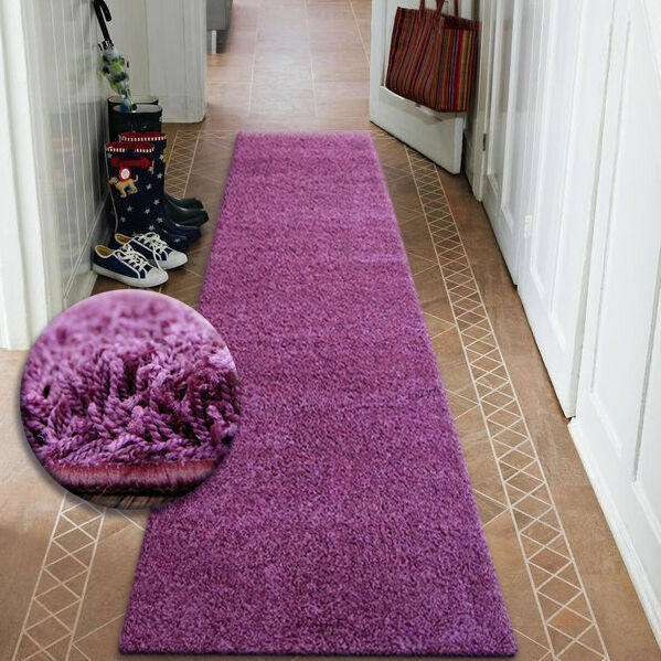 Moderne Coureurs de Salle Doux Poilu Tapis Tapis Tapis 5cm Violet Largeur 50-200cm Long 4a51f8