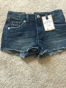 Levi's girls 6 Denim Shorts summer wear shorty shorts BRAND NEW