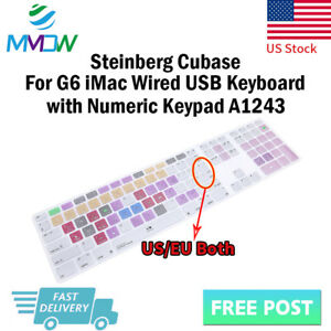 Steinberg-Cubase-Hotkey-Silicone-Keyboard-Cover-for-iMac-G6-Numeric-Keypad-A1243