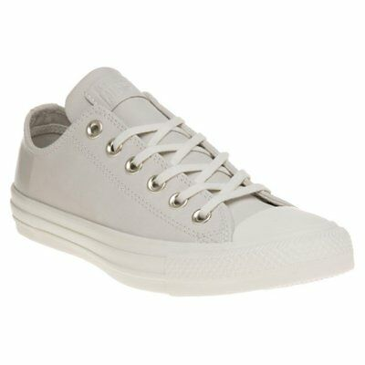 Sinnvoll New Womens Converse Natural All Star Ox Leather Trainers Canvas Lace Up Angenehm Bis Zum Gaumen Kleidung & Accessoires