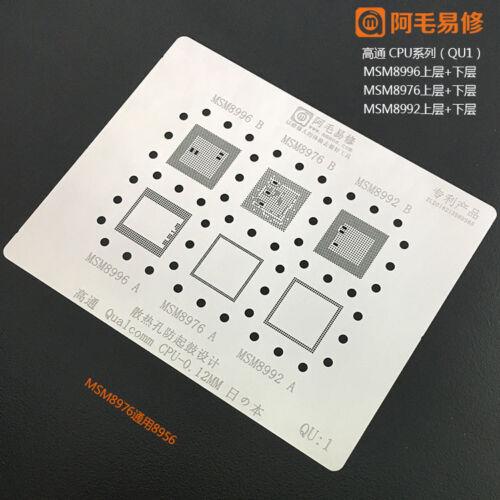 BGA Reballing Stencil Template for Qualcomm QU MSM MTK MU HUAWEI HU CPU Repair