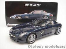 MERCEDES-BENZ SLS AMG 2010 BLAU METALLIC 1/18 MINICHAMPS 100039021  NEU