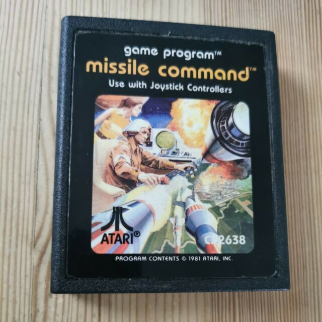 Missile Command / Cart Only / Atari 2600 / Tested & Working 7800 / PAL