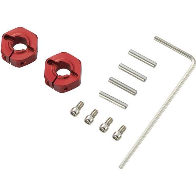 Reely 1:10 Alu-Felgenmitnehmer 12 mm 6-Kant 5 mm Rot 4 St.