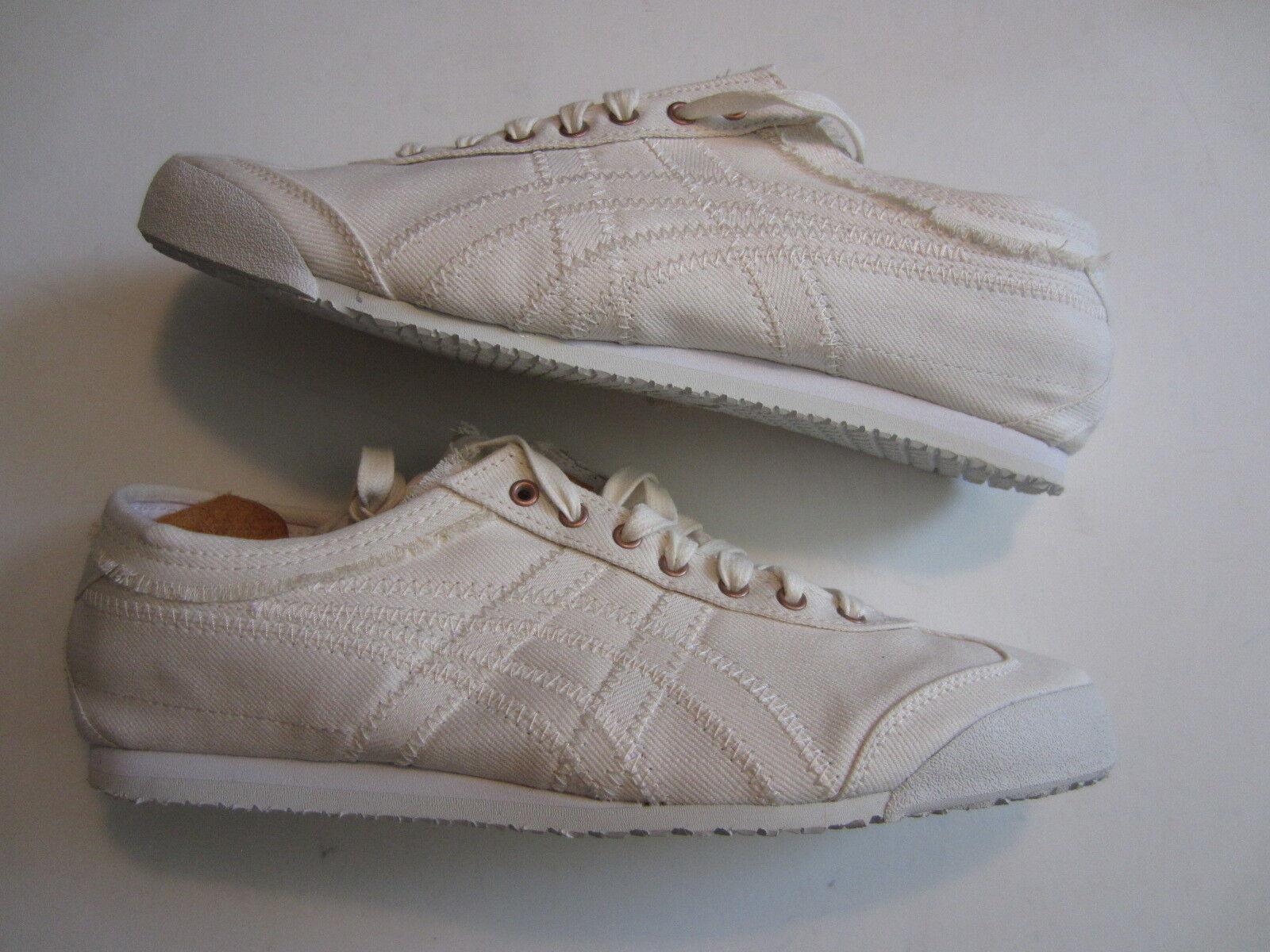 NEW Ascis Onitsuka Tiger Mexico 66 okayama denim D6F2N 9999 mens shoe white NIB