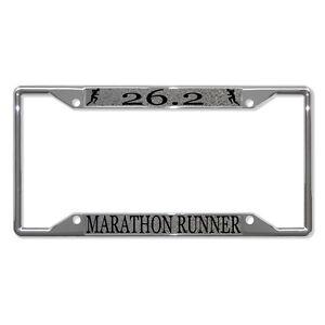 I D Rather Be 26 2 Marathon Runner Metal License Plate