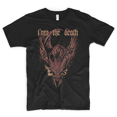 Fiducioso Smaug T Shirt Sono La Morte Hobbit Il Lord Degli Anelli Gandalf Legolas Sauron-mostra Il Titolo Originale