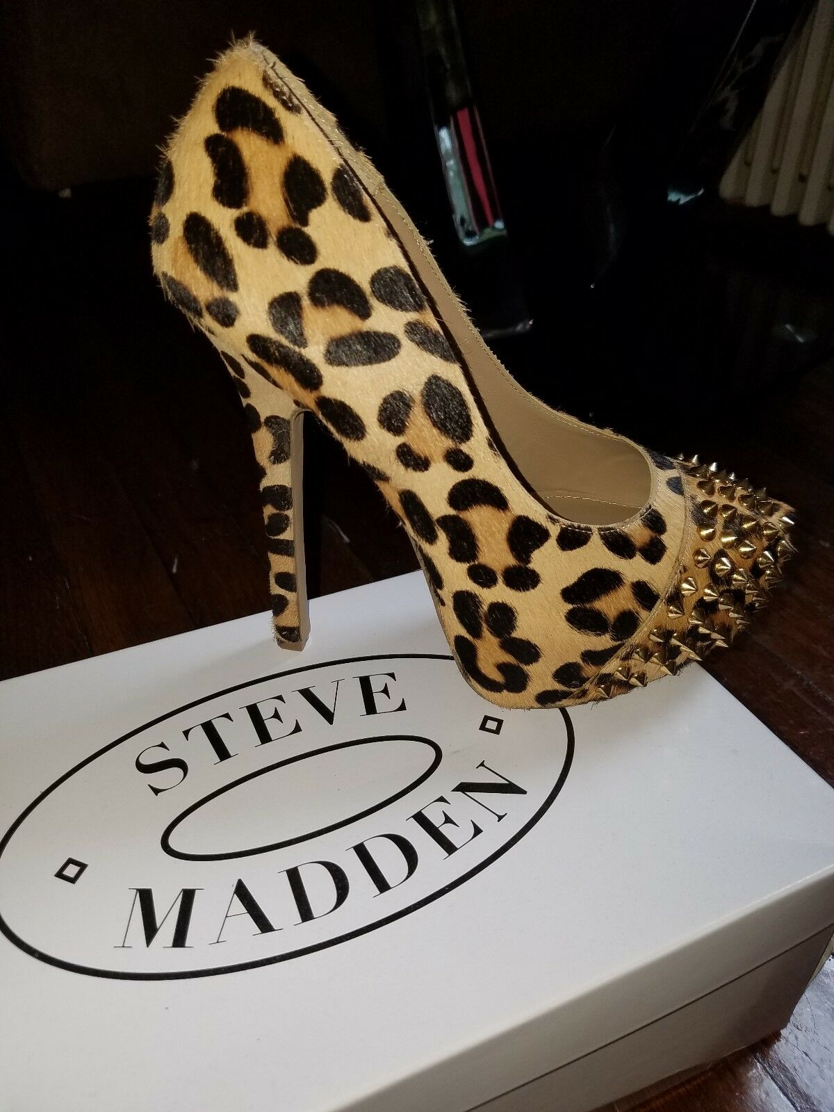 varie dimensioni donna steve madden real fur printed printed printed studd cow hair leahter heels Dimensione7m  senza esitazione! acquista ora!