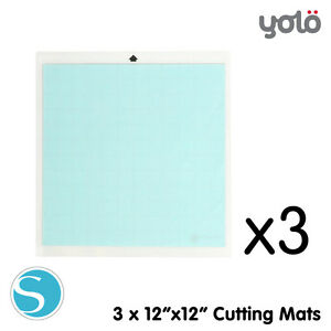 "3 x Silhouette 12"" x 12"" CUTTING MATS / CARRIER SHEETS for Cameo Cutters"
