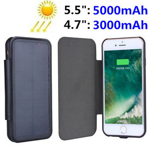 new product f63ef 7b7e4 Luxury Solar Panel Power Case For iPhone 8 7 Plus 6 Battery Backup ...