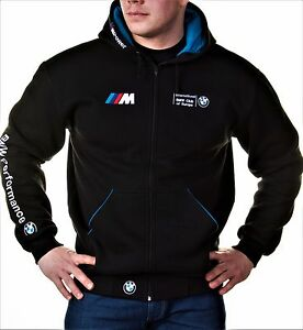 96e32ff43fe5 Image is loading Zip-Hoodie-BMW-M-Power-Motorsport-Club-Embroidery-
