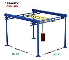 Gorbel Workstation Bridge Crane Al 12 Ton Capacity Glcs Fs 1000 20al 23 10