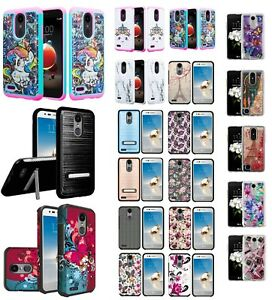 the latest 31794 65a3a Details about LG Fortune 2 Slim Hybrid Hard Case Shockproof Phone Cover  Phone Case Cricket