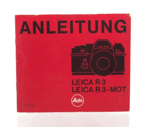 Leica r3 /& Leica r3-mot 34818 Instrucciones de uso