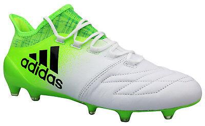 Adidas X 16.1 FG Fußballschuhe Leder Nocken weiß grün BB5843 Gr. 39 - 48  NEU OVP | eBay