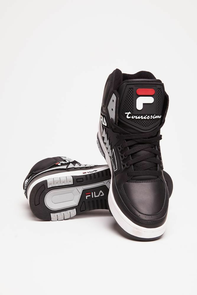 FILA Men's Tourissimo Black/White/Red Heritage High Top Price reduction Comfortable and good-looking