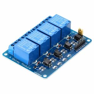 5PCS DC5V 4 Channel Relay Board Module Optocoupler for Arduino PIC ARM AVR DSP