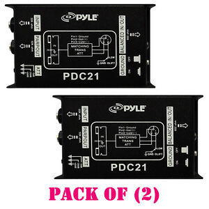 "Pack Of (2) Pdc21 1/4"" Instrument To Balanced & Unbalanced (1/4""/xlr) Direct Box X1tj4yau-07174412-951541340"